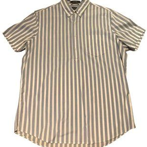Nordstrom Men's Shop Half Placket Striped Shirt
